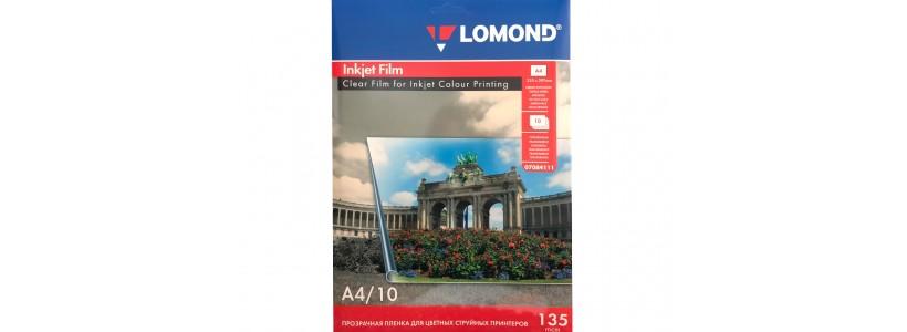 Пленка для печати на принтере lomond A4, 135 мкм, 10Л (07084111)