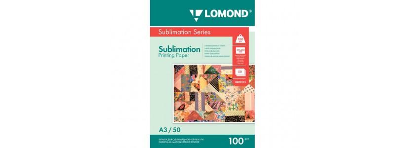 Сублимационная бумага lomond, A3, 100 Г/М2, 50Л (0809315)