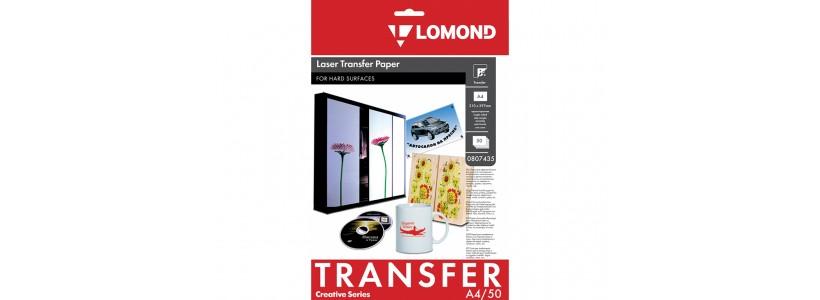Термотрансферная бумага LOMOND, A4, 150 Г/М2, 50 листов, (0807435) для лазерного принтера и твердых поверхностей