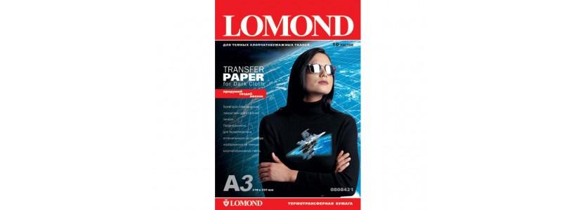 Термотрансферная бумага LOMOND, A3, 140 Г/М2, 50 листов, (0808325) для струйного принтера и темных тканей
