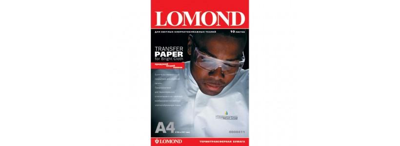 Термотрансферний папір LOMOND, A4, 140 Г/М2, 10 аркушів, (0808411) для струменевого принтера і світлих тканин